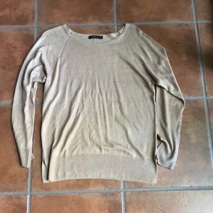Zara shimmery gold lightweight knit sweater size M